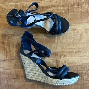 Joe's Jeans leather sandals wedges heels 7.5M